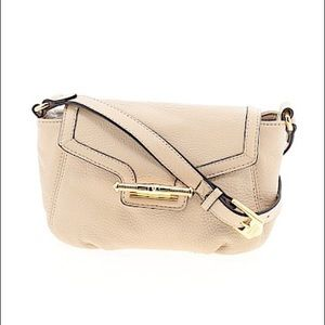 AIMEE KESTENBERG Cream Leather Crossbody Bag